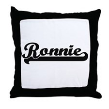 Ronnie Classic Retro Name Design Throw Pillow