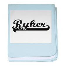 Ryker Classic Retro Name Design baby blanket