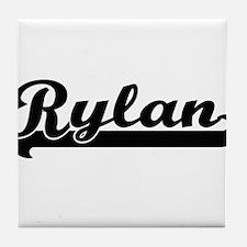 Rylan Classic Retro Name Design Tile Coaster