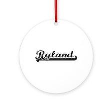 Ryland Classic Retro Name Design Ornament (Round)