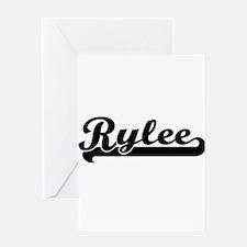 Rylee Classic Retro Name Design Greeting Cards