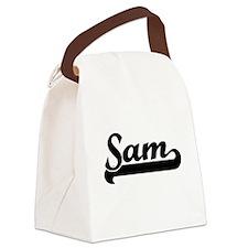 Sam Classic Retro Name Design Canvas Lunch Bag