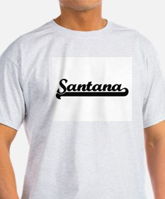 Santana Classic Retro Name Design T-Shirt