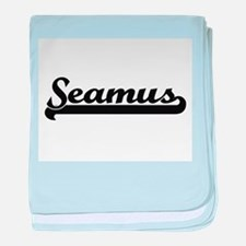 Seamus Classic Retro Name Design baby blanket