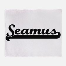 Seamus Classic Retro Name Design Throw Blanket