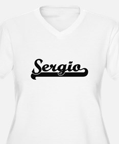 Sergio Classic Retro Name Design Plus Size T-Shirt