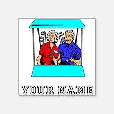 Golf Couple (Add Name) Sticker