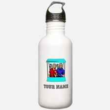 Golf Couple (Add Name) Water Bottle