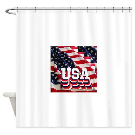 USA Shower Curtain