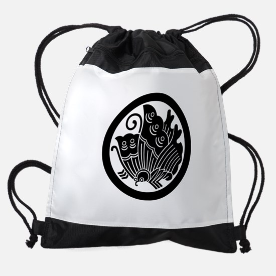 Ageha butterfly in circle Drawstring Bag