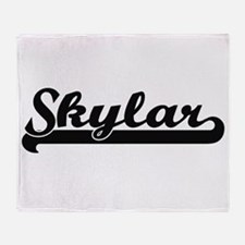 Skylar Classic Retro Name Design Throw Blanket