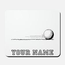 Golf Ball Rolling (Add Name) Mousepad