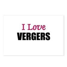 I Love VERGERS Postcards (Package of 8)