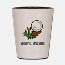 Golf Ball On Tee (Add Name) Shot Glass