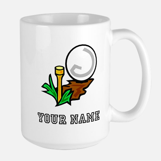Golf Ball On Tee (Add Name) Mugs