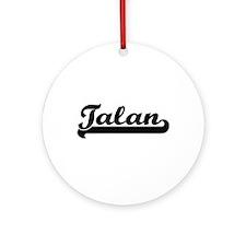 Talan Classic Retro Name Design Ornament (Round)