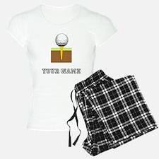 Golf Ball And Tee (Add Name) Pajamas