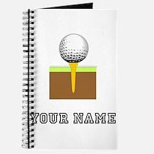 Golf Ball And Tee (Add Name) Journal