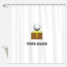 Golf Ball And Tee (Add Name) Shower Curtain