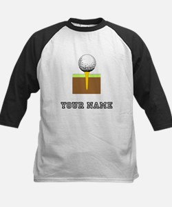 Golf Ball And Tee (Add Name) Baseball Jersey