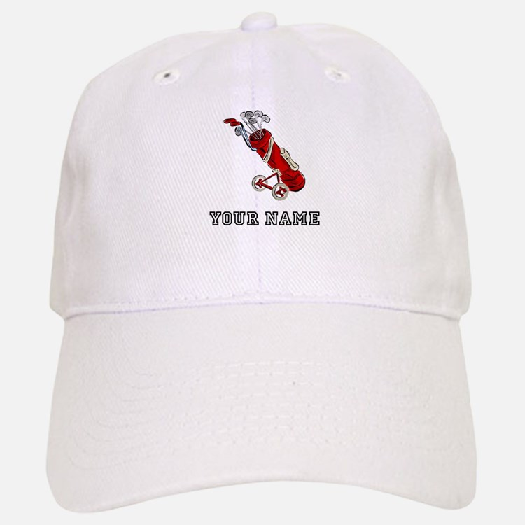 Golf Bag On Wheels (Add Name) Baseball Baseball Baseball Cap