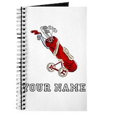 Golf Bag On Wheels (Add Name) Journal