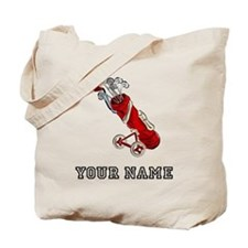 Golf Bag On Wheels (Add Name) Tote Bag