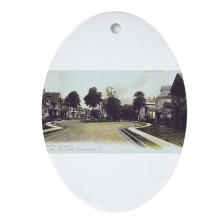 Rosa Park Oval Ornament