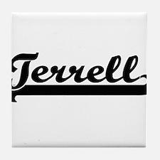 Terrell Classic Retro Name Design Tile Coaster