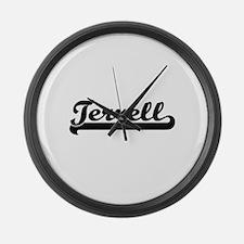 Terrell Classic Retro Name Design Large Wall Clock