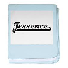 Terrence Classic Retro Name Design baby blanket
