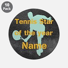 "Cool Tennis Star 3.5"" Button (10 pack)"