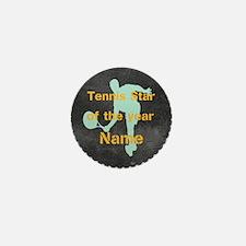 Cool Tennis Star Mini Button
