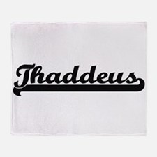 Thaddeus Classic Retro Name Design Throw Blanket