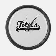 Titus Classic Retro Name Design Large Wall Clock