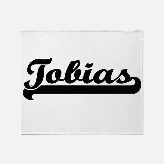 Tobias Classic Retro Name Design Throw Blanket