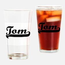 Tom Classic Retro Name Design Drinking Glass