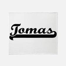 Tomas Classic Retro Name Design Throw Blanket