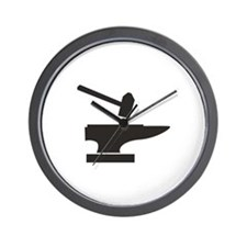 Hammer & Anvil Wall Clock
