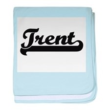 Trent Classic Retro Name Design baby blanket