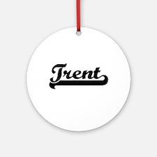 Trent Classic Retro Name Design Ornament (Round)