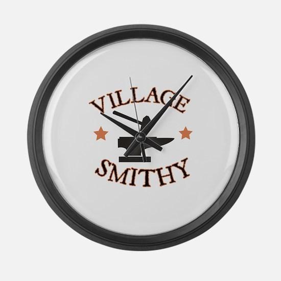 Village Smithy Large Wall Clock