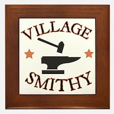Village Smithy Framed Tile