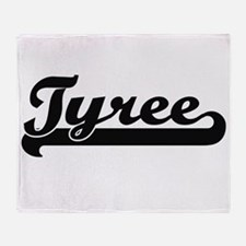 Tyree Classic Retro Name Design Throw Blanket