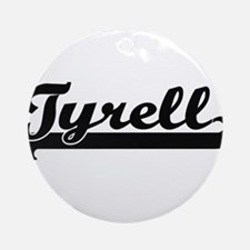 Tyrell Classic Retro Name Design Ornament (Round)