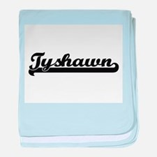 Tyshawn Classic Retro Name Design baby blanket