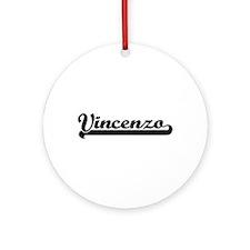 Vincenzo Classic Retro Name Desig Ornament (Round)