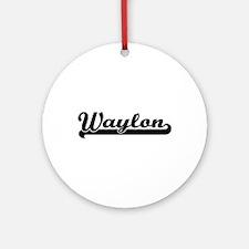 Waylon Classic Retro Name Design Ornament (Round)