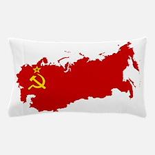 Red USSR Soviet Union map Communist Co Pillow Case