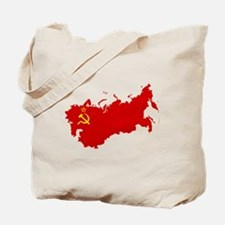 Red USSR Soviet Union map Communist Count Tote Bag